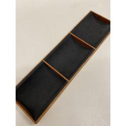 Porte-jetons en bois : Modèle avec 3 compartiments
