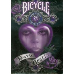 54 Cartes Bicycle Ann Stokes Dark Hearts