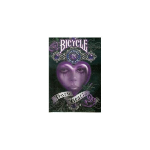 54 Cartes Bicycle Ann Stock Dark Hearts