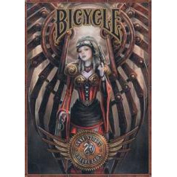 54 Cartes Bicycle Ann Stock Steampunk